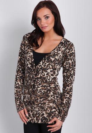 Missguided Phiona Leopard Print Cardigan
