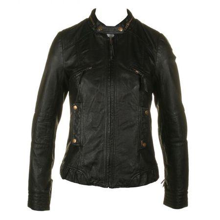 Pepe Cathy Black Leather Jacket