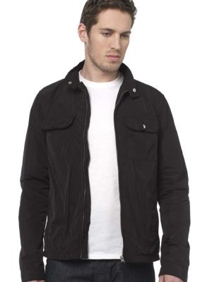 Peter Werth Black Funnel Neck Jacket