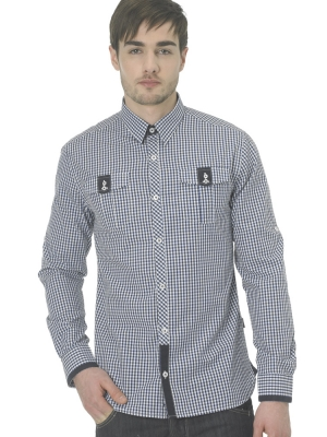 Peter Werth Navy Check Shirt