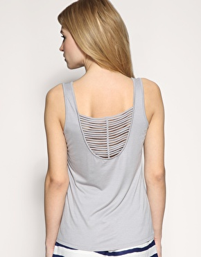 Reiss Kailua Strap Back Tank Top