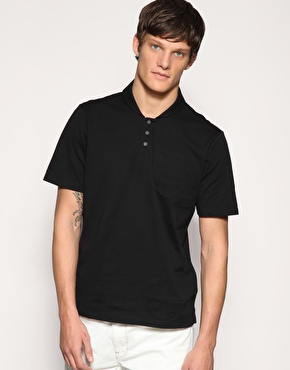 Reiss Mesquite Mercerised Shawl Neck Polo