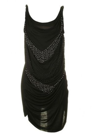 Religion Beads Jet Black Dress