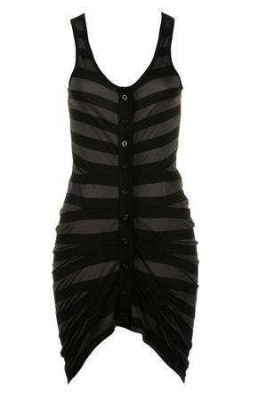 Religion Bold Stripe Black Dress
