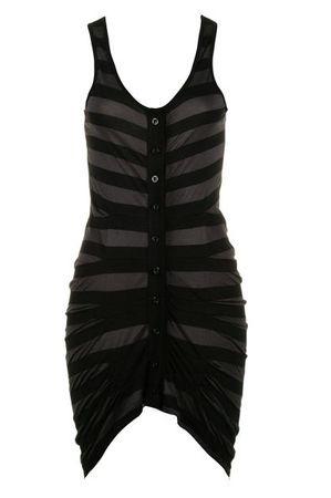 Religion Bold Stripe Black Dress