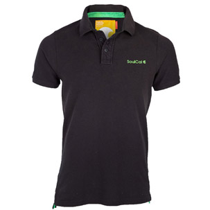 Soul Cal Black Pique Polo T-Shirt