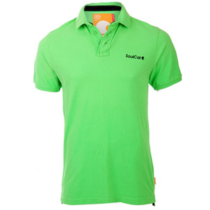 Soul Cal Green Pique Polo T-Shirt