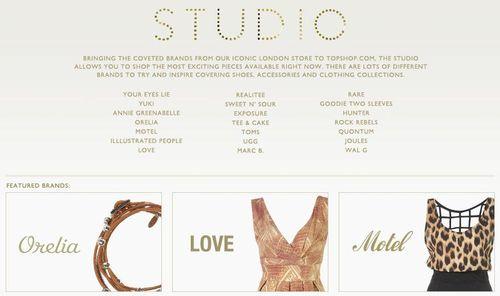 Topshop Studio Brands