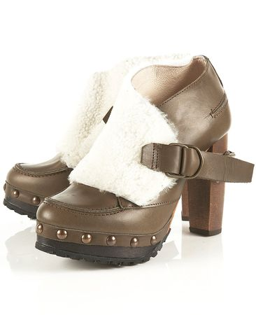 Unique Fur Cuff Boots