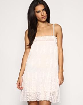 Vila Tiered Lace Layered Dress