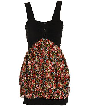 Wal G Floral Jersey Dress