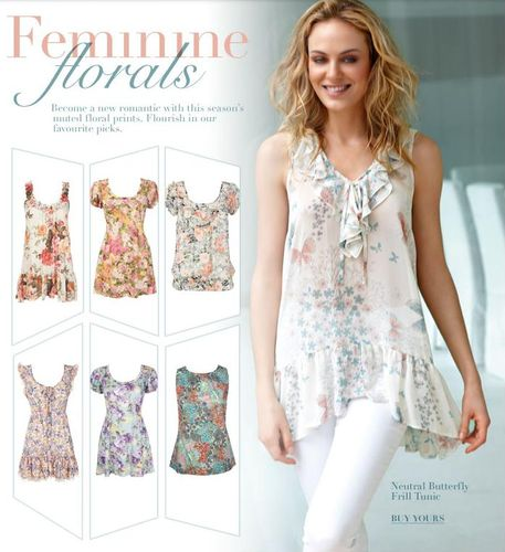 Wallis Floral Tops
