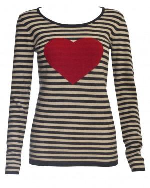 Warm Pixie Big Heart Stripe Jumper