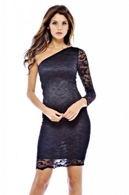 AX Paris One Shoulder Fitted Lace Dress