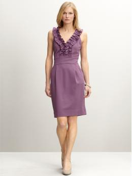 Banana Republic Brigitte Double Knit Ruffle Dress
