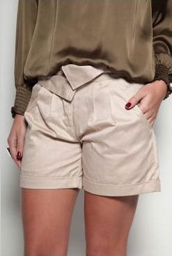 Boohoo Natalie Pleat Front City Shorts