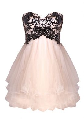 Prom Dress on Stunning Forever Unique Simone Prom Dress  This Champagne Netted Dress