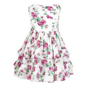 Dress Shopping Online on Wills Lilyhurst Dress   The Lilyhurst Strapless Floral Tiered Dress