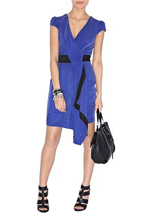 Karen Millen Contrast Draped Dress