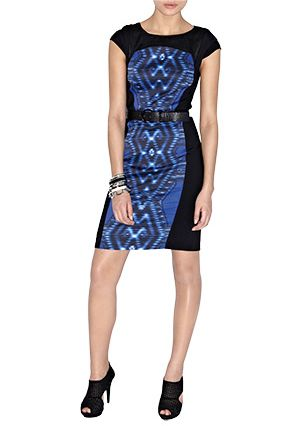 Karen Millen Contrast Print Dress