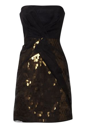 Karen Millen Strapless Sequin Dress