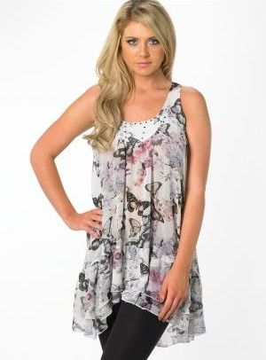 Lipsy Racer Back Frill Hem Dress