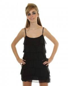 Love Black Ruffle Dress