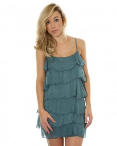Love Teal Ruffle Dress