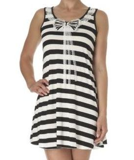 Mela Striped Bow Tunic