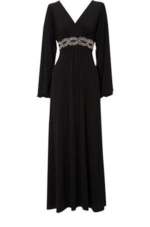 Long Sleeve Maxi Dress on Oasis Bead Waist Maxi Dress   An Elegant Long Sleeve Maxi Dress With A