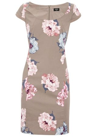 Oasis Graceful Flower Print Shift Dress