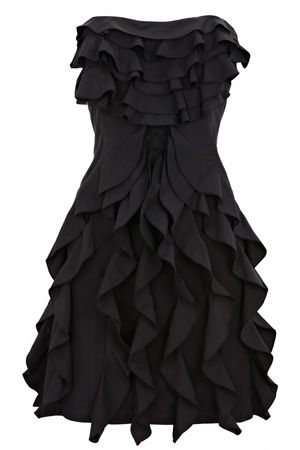 Black Maxi Dress on Dress   Opt For Ruffles This Season With This Fitted Bandeau Dress