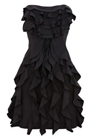 Oasis Taffeta Ruffle Dress