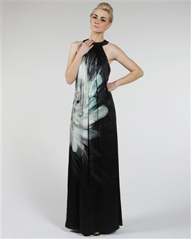 Ted Baker Ahaza Feather Print Maxi