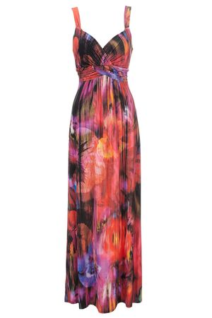 Online Flower Shop on Wallis Orange Fire Flower Maxi Dress   Orange Fire Flower Cross Over
