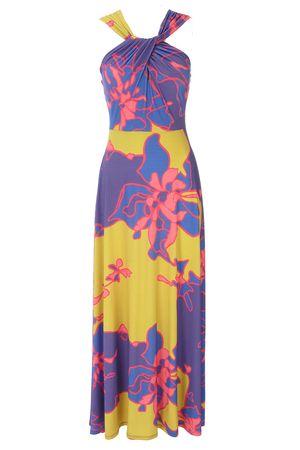 Evening Maxi Dress on Purple La Floral Maxi Dress   Purple And Lime La Floral Maxi Dress
