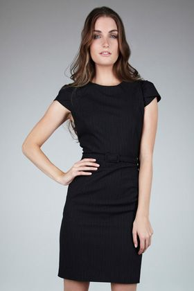 Warehouse Cutabout Pinstripe Dress