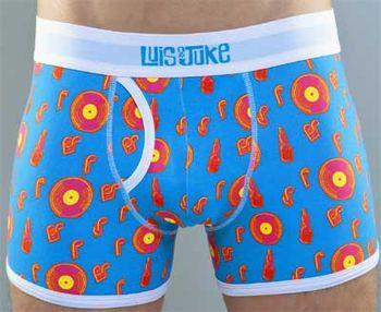 Luis & Juke Mic Madness Not So Basic Blue Boxer Shorts