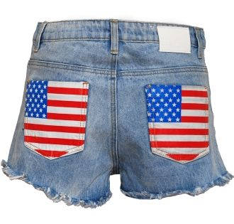 Attitude Essentials USA Stud Hot Pants