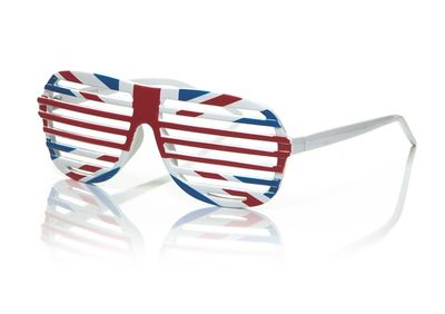 Blue Inc Union Flag Slatted Glasses