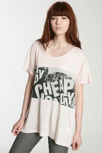 Cheap Monday Roxanne Print Stripe T-Shirt