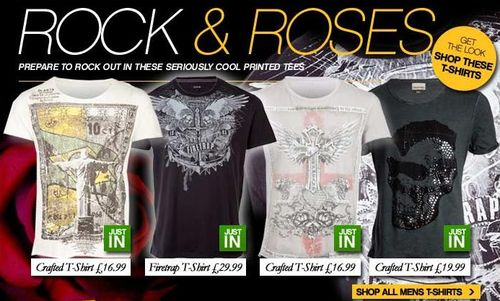 Crafted Mens Rock T-Shirts
