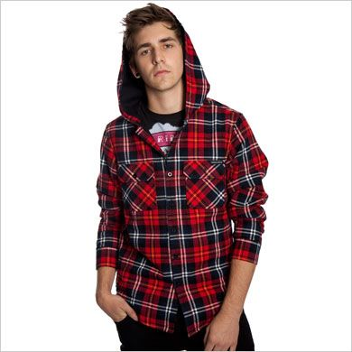 Criminal Damage Hooded Lumberjack Shirt
