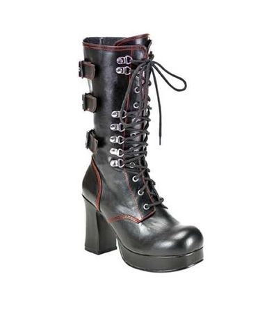 Demonia Gothica Lace Up Boots