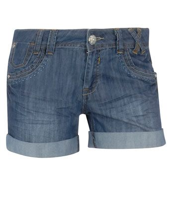 Dorothy Perkins Mid Wash Stitch Shorts