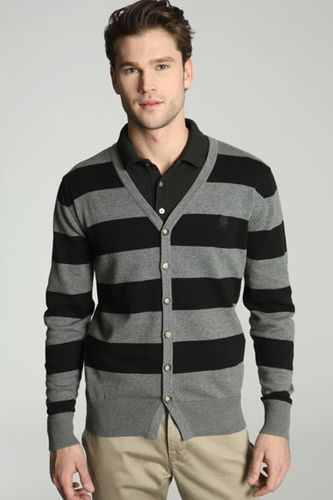 Dr Denim Greg Stripe Cardigan