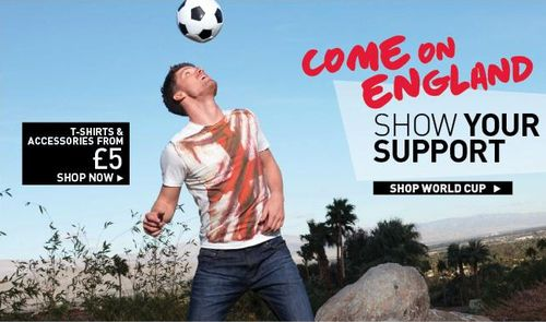 England Word Cup T-Shirts At New Look