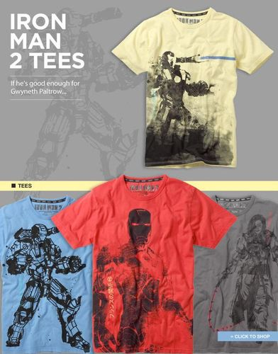 French Connection Iron Man T-Shirts