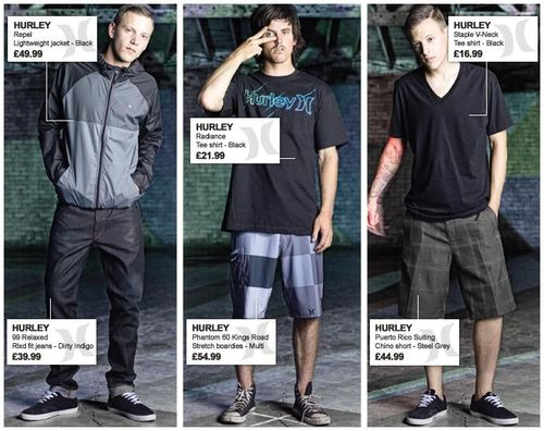 Hurley Mens Clothing