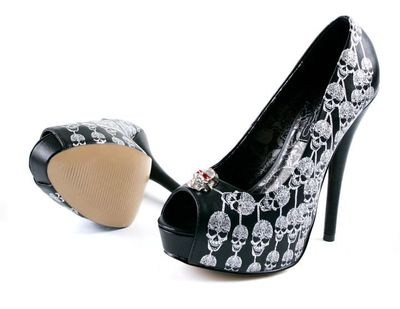 Women converse shoes all star The end of the world skull cheap to